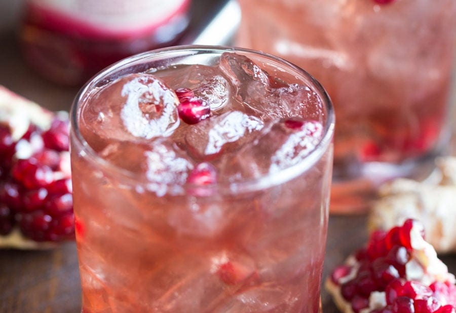 Pomegranate-Ginger Vodka Fizz