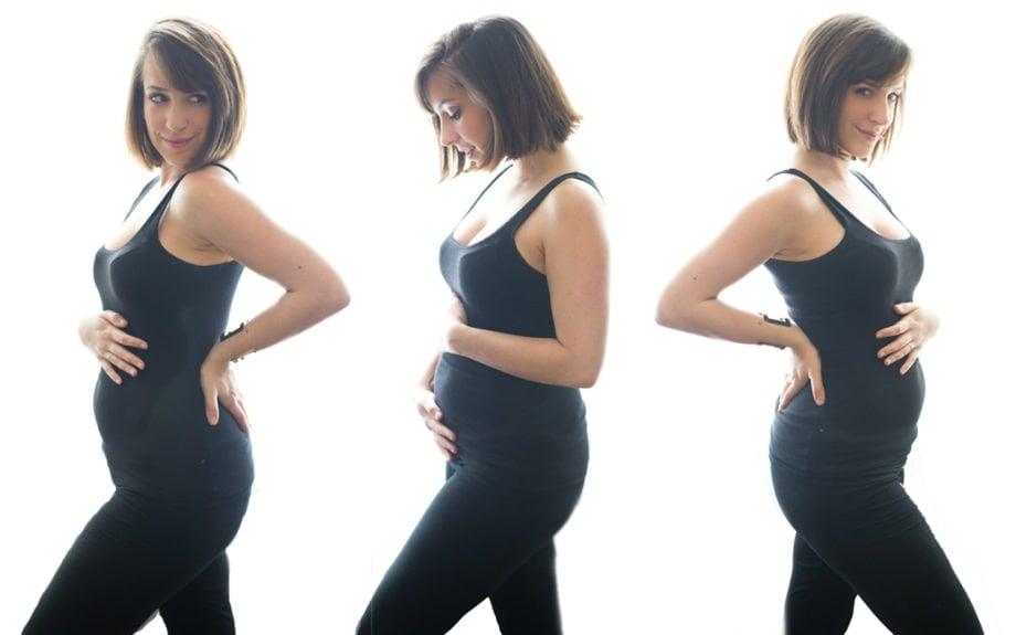 17 weeks pregnant bump progression! 40 Aprons