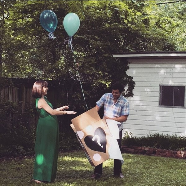 It's a boy! Balloon gender reveal // 40 Aprons