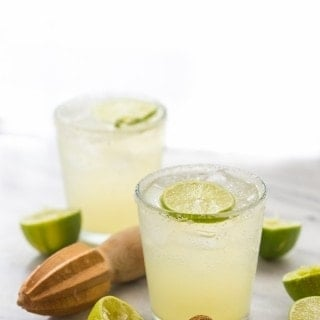 Champagne Margarita - the perfect margarita topped with a bit of bubbly. Oh. So. Good. // 40 Aprons