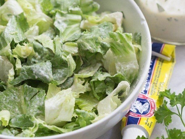 A rich and creamy yet light and bright salad dressing--inspired by Carrabba's and pregnancy cravings. // 40 Aprons