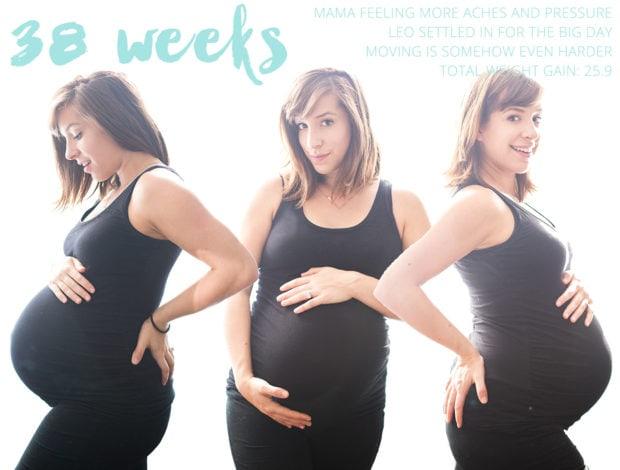 38 weeks pregnant! // 40 Aprons