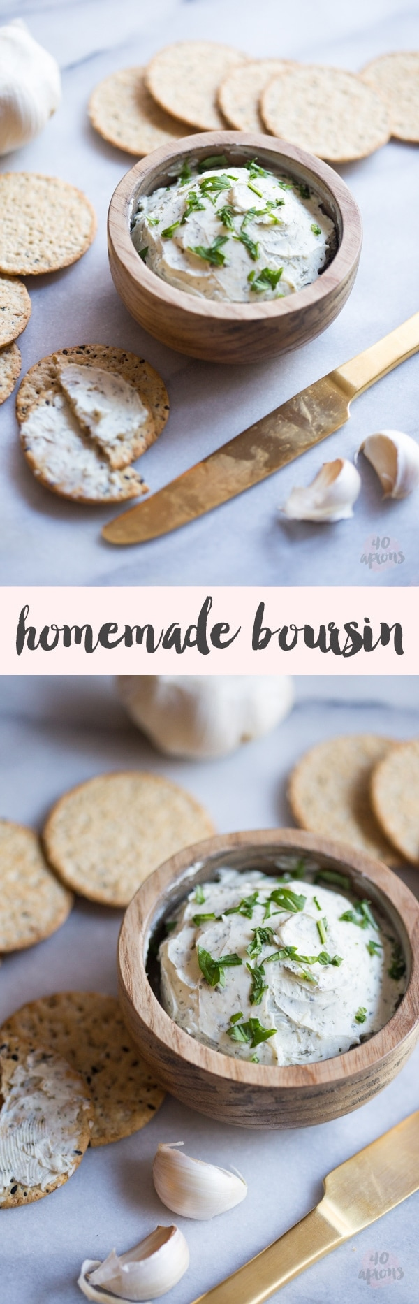 Homemade Boursin: 5 ingredients, so easy, totally delicious.