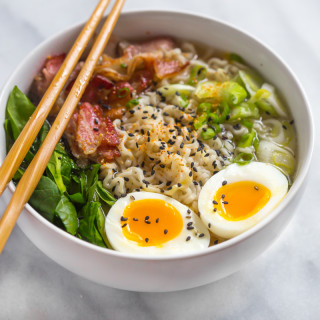 Bacon ramen - rich, salty, smoky ramen broth. // 40 Aprons