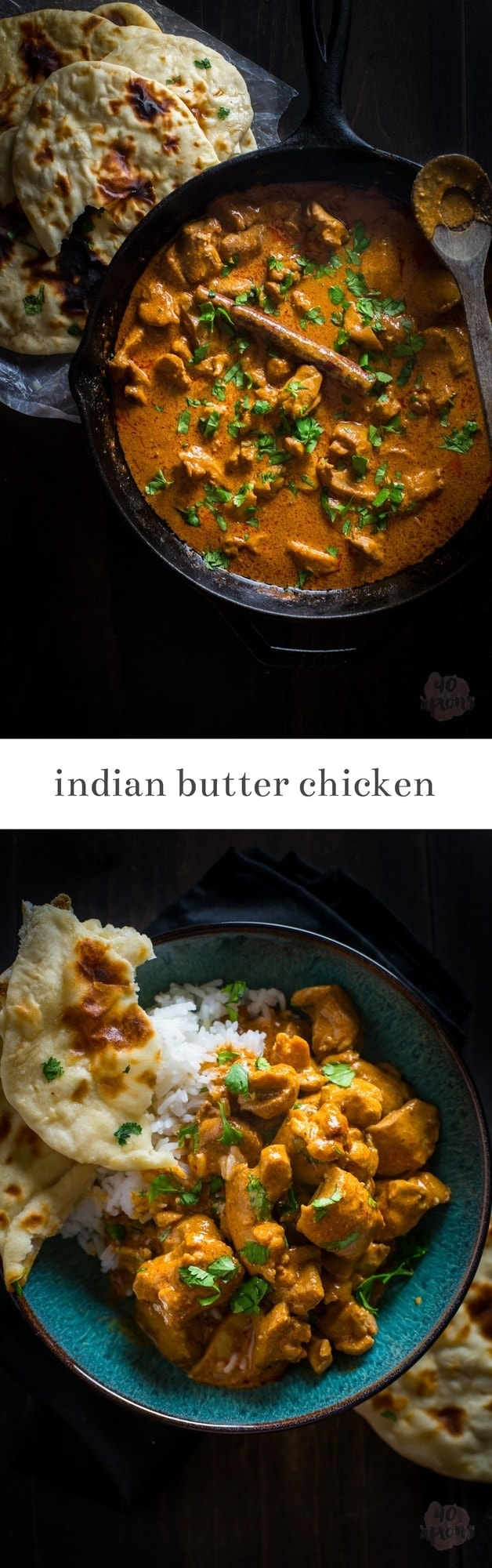 Rich, flavorful Indian butter chicken. So good, and clean eating, too!