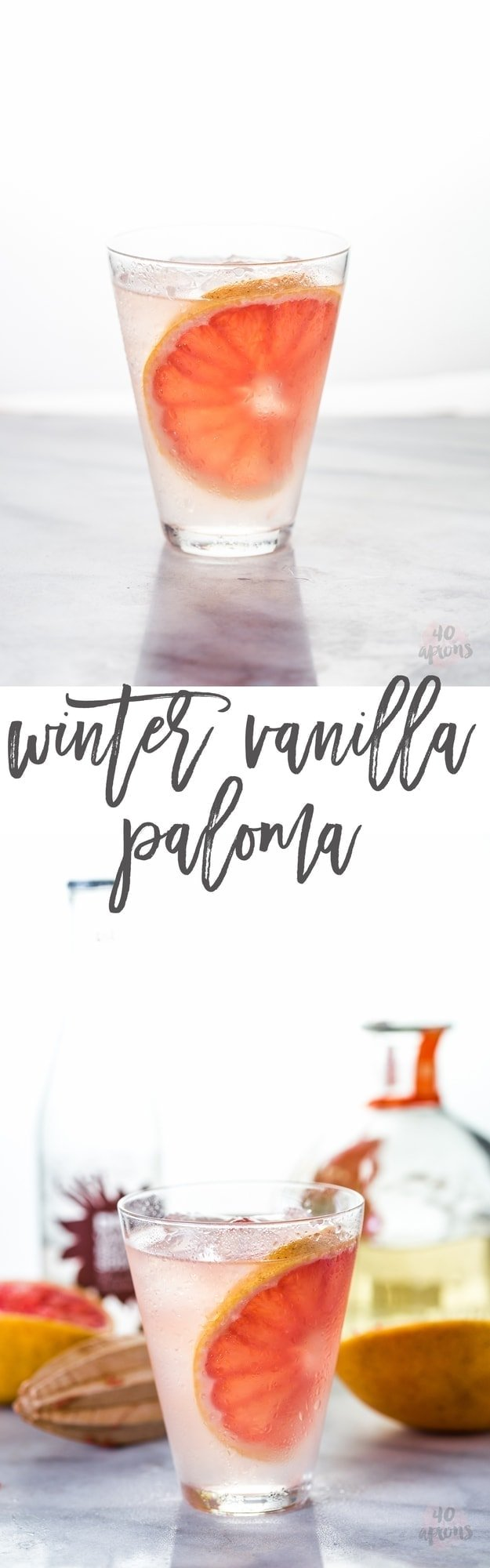 Vanilla Paloma - grapefruit, tequila, Dry Vanilla Soda. Perfectly refreshing and simple with a sweet twist // 40 Aprons