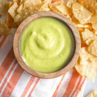 Avocado salsa - smooth, flavorful, and so quick and easy. Perfect with any and all Latin food! // 40 Aprons