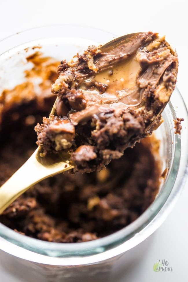 Healthy Chocolate Peanut Butter Mug Cake. Lives changed.