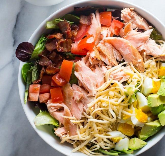 Smoked Salmon Cobb Salad
