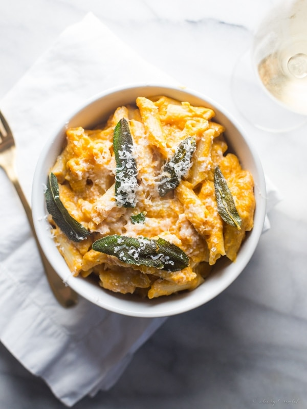 Pumpkin Sage Alfredo Gluten Free Vegan Pasta
