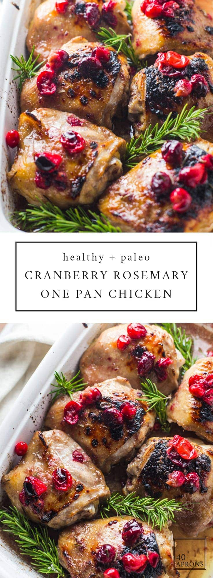Cranberry rosemary one pan chicken 40 aprons this cranberry rosemary one pan chicken is an easy healthy dinner youre forumfinder Images