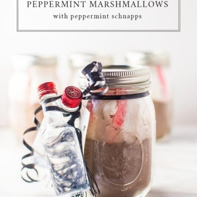 Spiked Hot Chocolate Mix with Homemade Peppermint Marshmallows Gift Kit