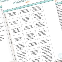 Whole30 Meal Plans + Shopping Lists: Prep + Week 1 (Downloadable)