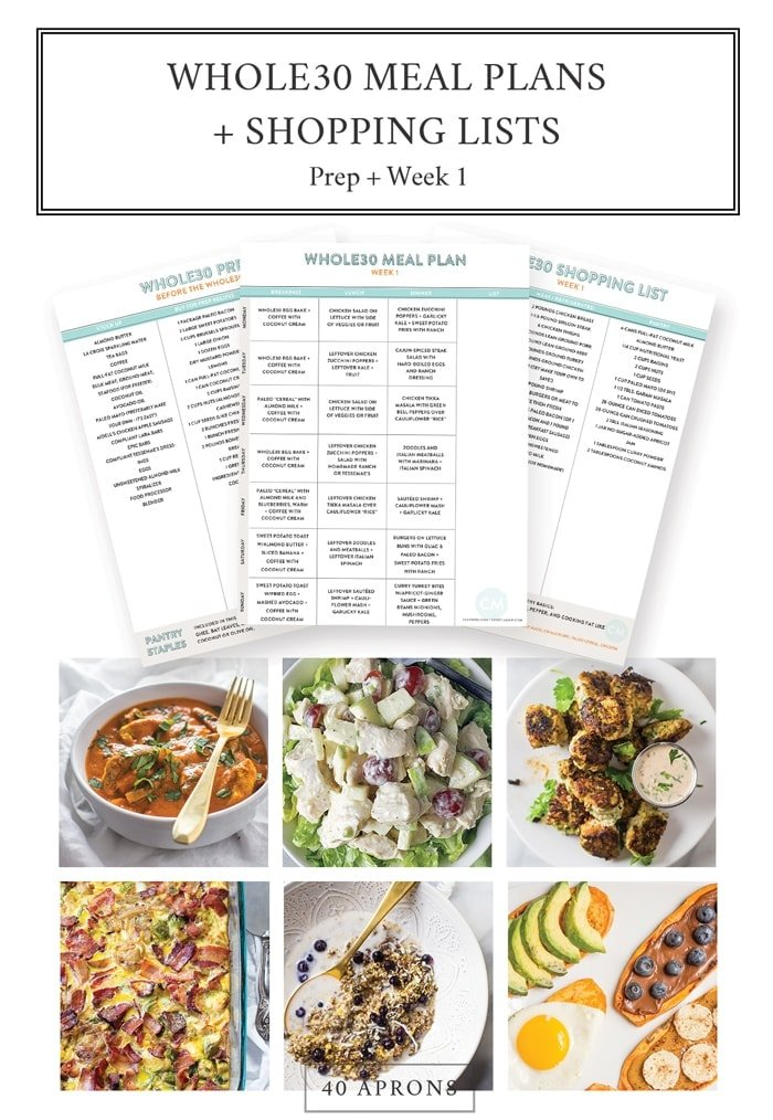 whole30 meal plans and shopping list whole30 prep and week 1