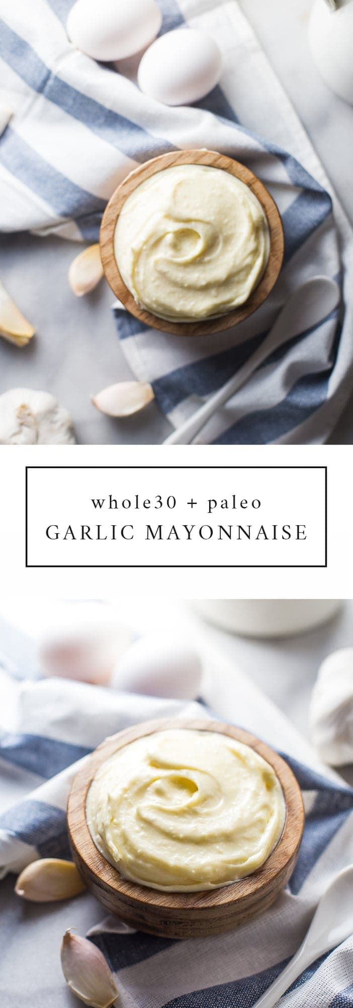 Whole30 garlic mayonnaise : this paleo garlic mayo is amazing! You need a jar in your fridge at all times during a Whole30, I promise.
