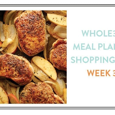 Whole30 Meal Plans + Shopping Lists: Week 3 (Downloadable)