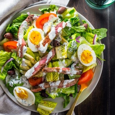 Whole30 Steak Salad Steakhouse-Style (Paleo)