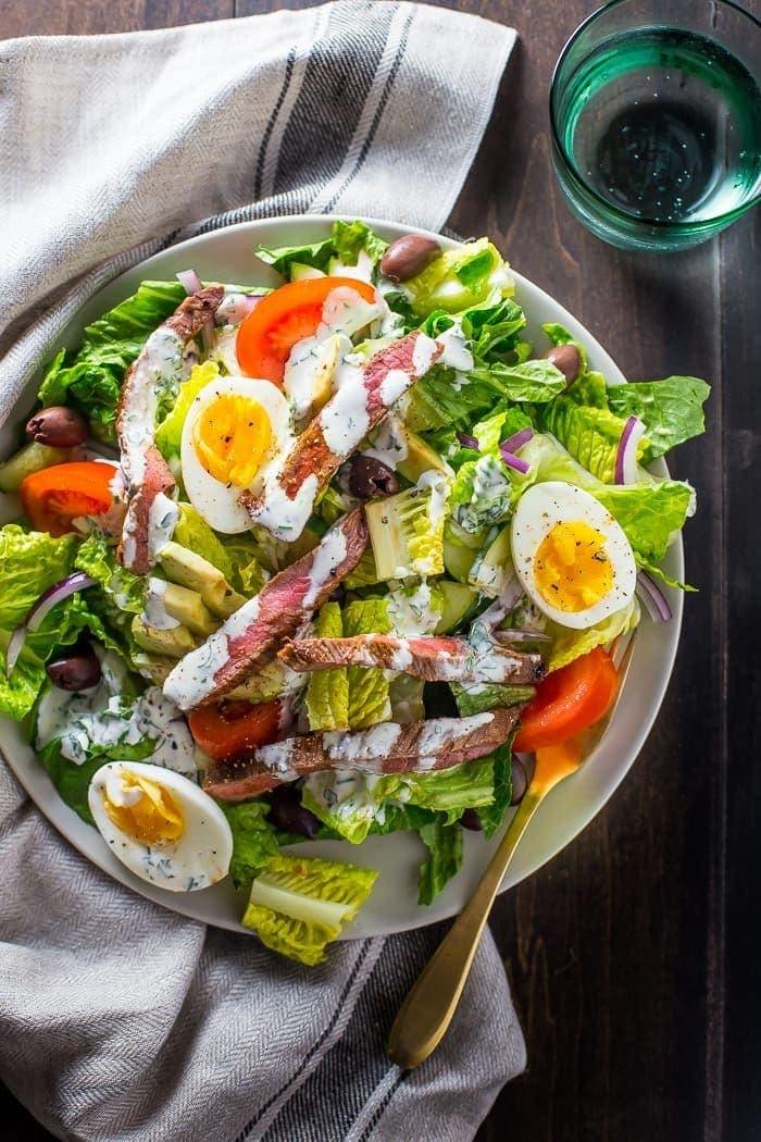 Whole30 steak salad steakhouse style