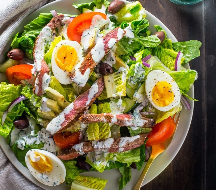 Whole30 steak salad steakhouse style