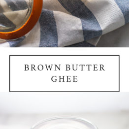 This brown butter ghee recipe is so easy and creates the most amazing flavor. Learning how to make ghee (especially brown butter ghee!) is perfect for the paleo or Whole30 kitchen!