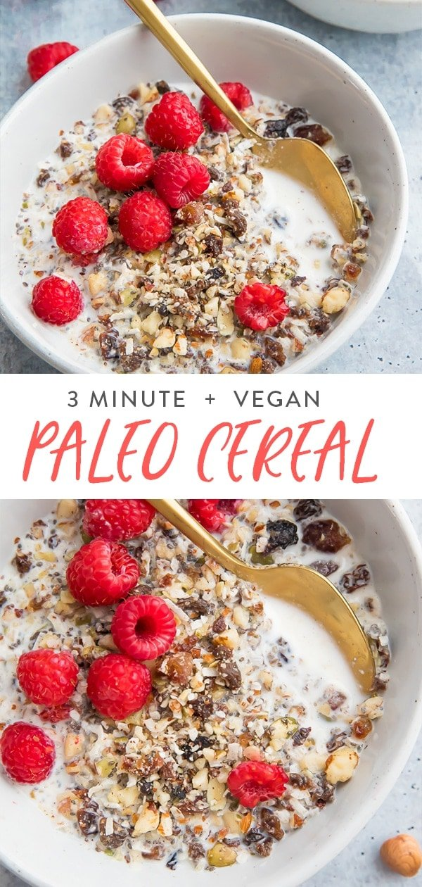 Paleo cereal Pinterest graphic