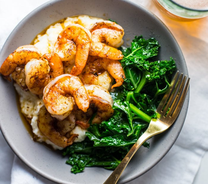 Paleo Shrimp and Grits Recipe (Whole30) [VIDEO]