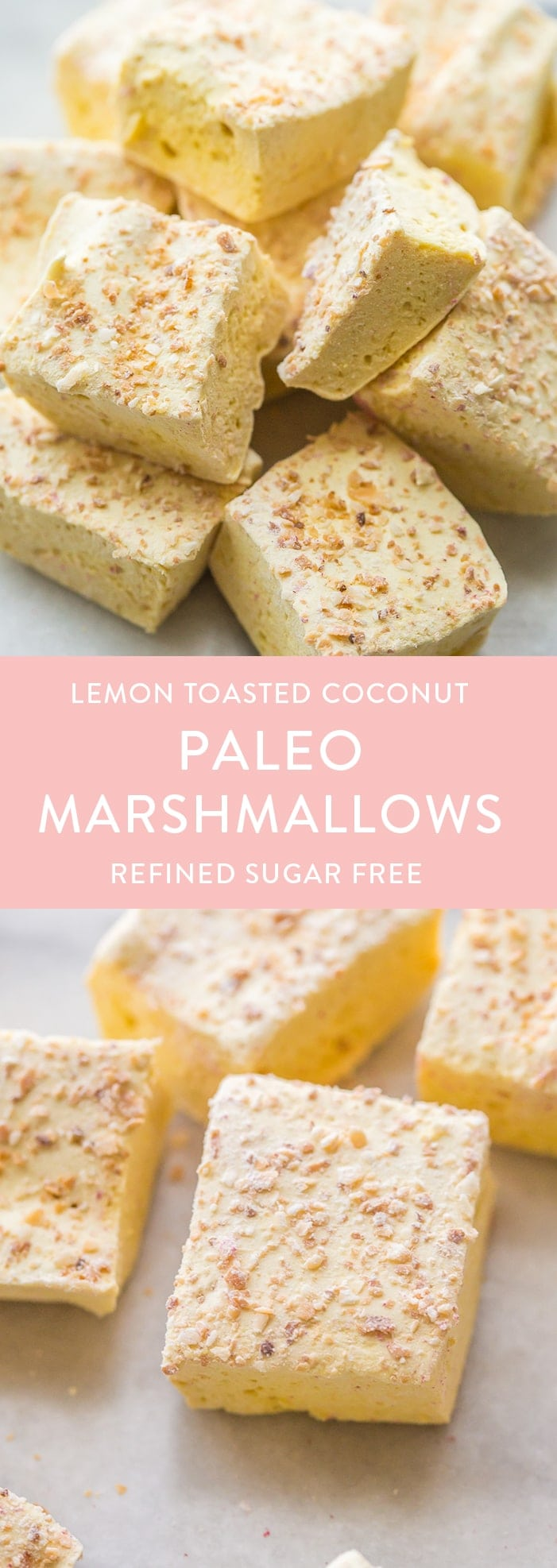 Raspberry paleo marshmallows and toasted coconut lemon paleo marshmallows are the perfect paleo treat. Light and fluffy and made from only healthy ingredients? YAS queen