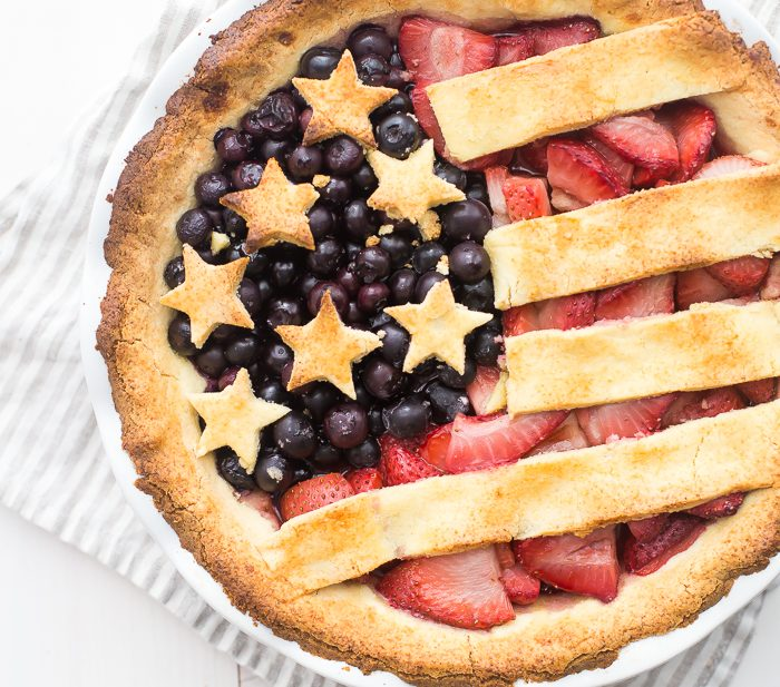 Paleo American Flag Pie (Grain Free, Gluten Free, Refined Sugar Free, Dairy Free)