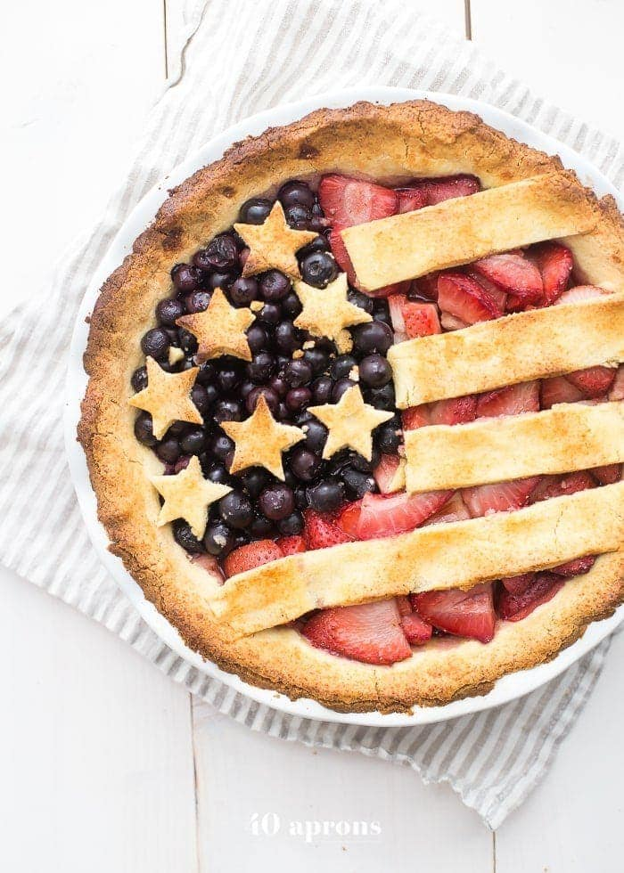 Paleo American Flag Pie 4th Of July Memorial Day Labor Day