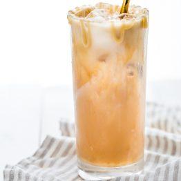 Paleo Iced Caramel Macchiato (Vegan)
