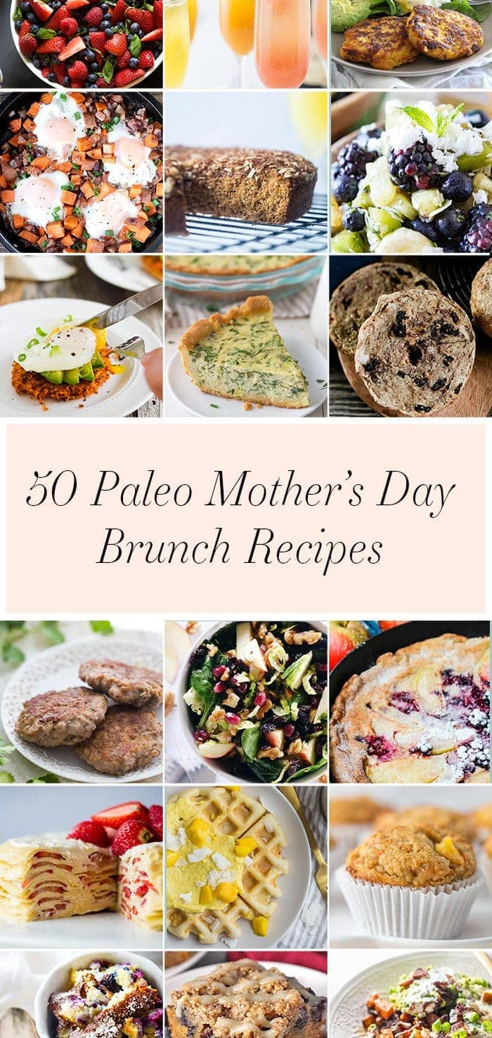 This collection of paleo Mother's Day recipes makes it easy to show a paleo mama you care. With 50 paleo brunch and paleo Mother's Day recipes, there's something for every mama! Ideal for breakfast in bed or brunch at home.