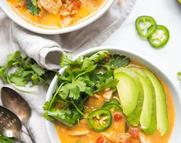 Whole30 Instant Pot Chicken Tortilla-Less Soup (Paleo)