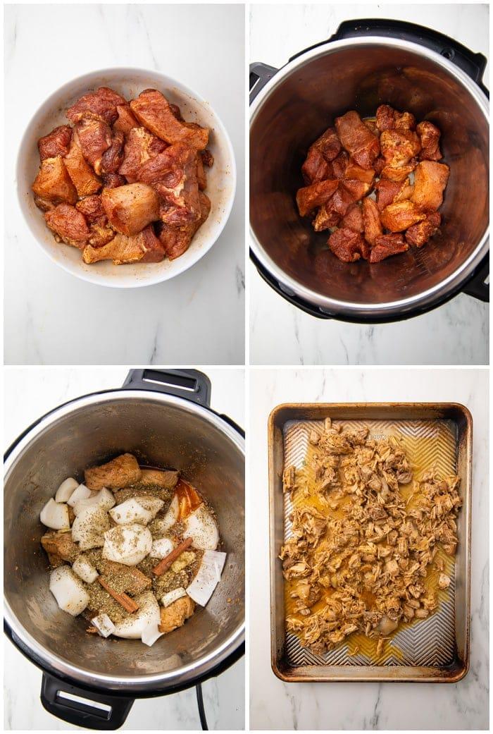 Instructions for Instant Pot carnitas