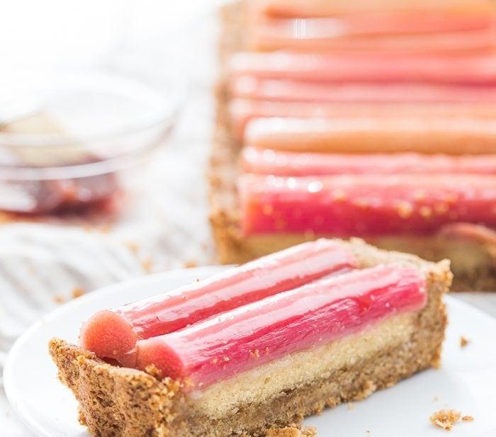 Paleo Rhubarb Tart (Grain-Free, Gluten-Free, Dairy-Free)