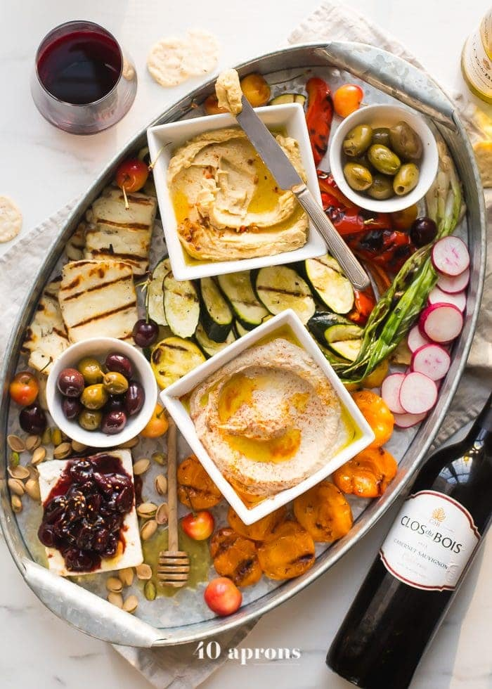 this healthy greek appetizer platter is perfect for summer entertaining loaded with healthy make