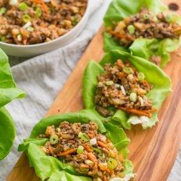 Healthy lettuce wraps PF Changs style