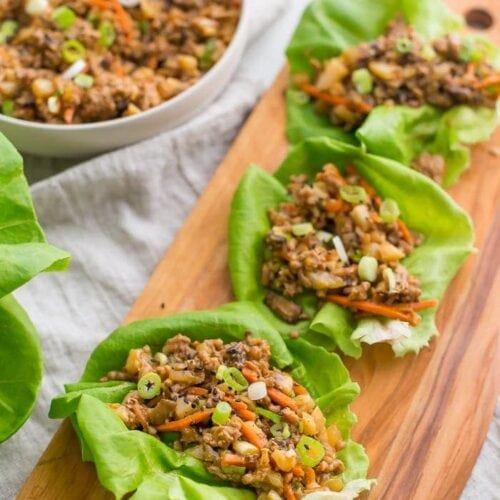 Healthy lettuce wraps PF Changs style