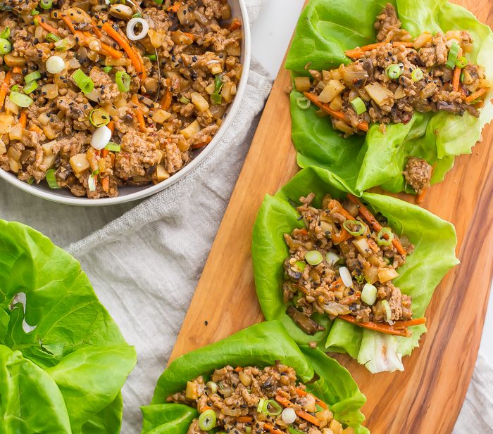Healthy Lettuce Wraps – PF Changs Recipe (Whole30, Paleo)