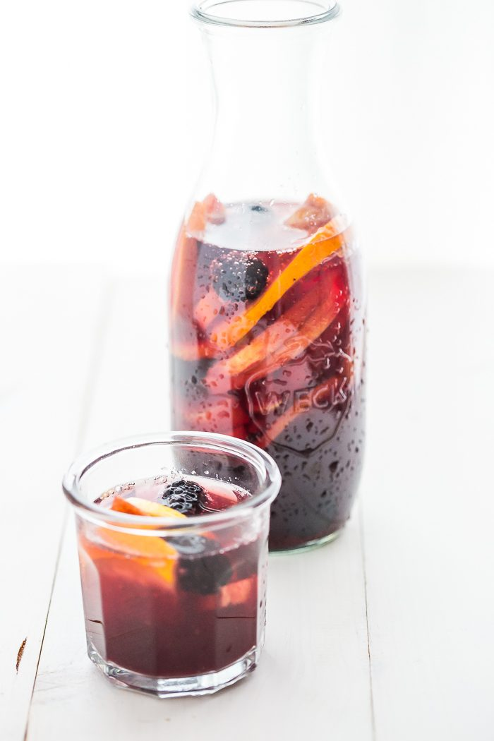 This paleo sangria is just like an authentic Spanish-style sangria but made with healthier ingredients. It's sweet, strong, and delicious, just like a paleo sangria should be! You'll love this paleo sangria because it's so easy to make ahead and only takes a few minutes to prepare, but it'll become an absolute favorite with your friends. But be warned: this paleo sangria can be strong!