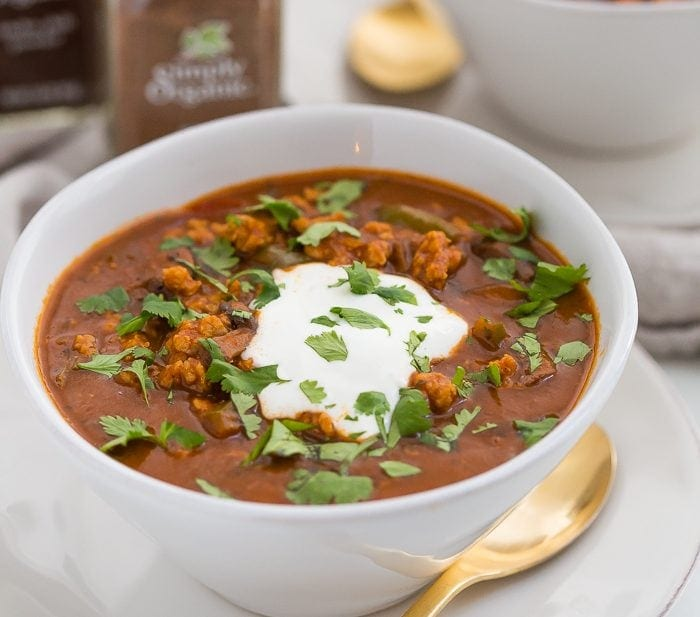Chicken Tikka Masala Chili (Whole30, Paleo)