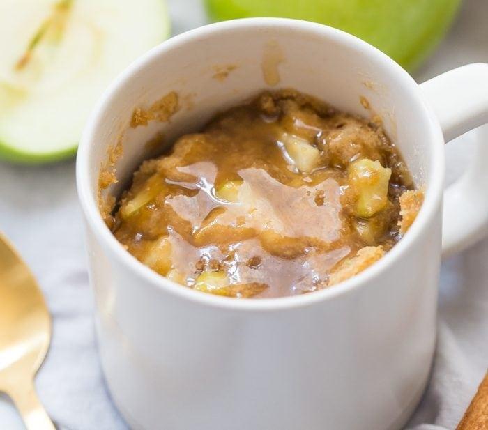 Paleo Caramel Apple Microwave Cake