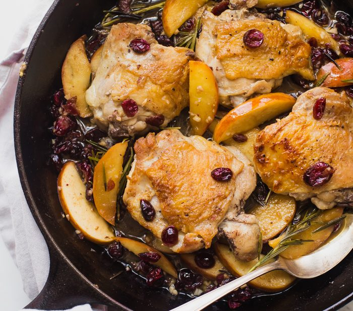 Paleo cranberry apple chicken