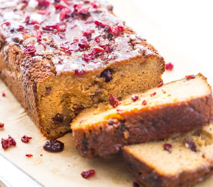 Paleo Cranberry Orange Pound Cake (And Pregnancy Care Package) + Giveaway