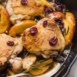 Paleo Cranberry Apple Chicken Thighs with Rosemary (Whole30)