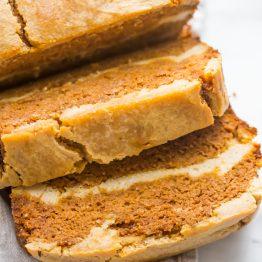 Paleo Pumpkin Bread with Cream Cheese Swirl (Gluten Free, Grain Free)