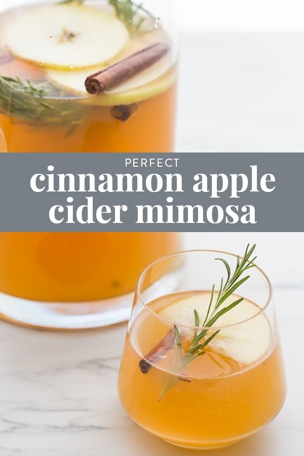 Cinnamon Apple Cider Mimosa Recipe Pinterest image