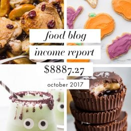 Food Blog Income Report and Traffic: October 2017