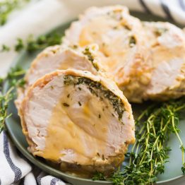 Whole30 Instant Pot Turkey Breast with Gravy (Paleo)