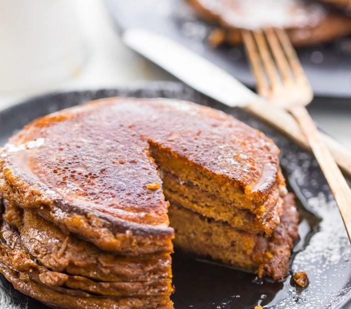 Paleo Gingerbread Pancakes (Gluten Free, Grain Free)