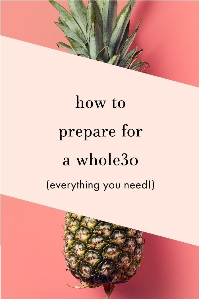 How to prepare for a Whole30 graphic.